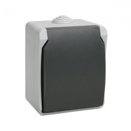 Розетка ИЭК РСб20-3-ФСр одноместная с з/к накладная IP54