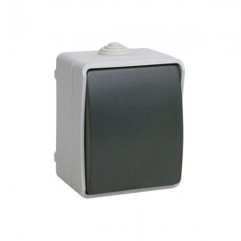Выключатель ИЭК ВС20-1-0-ФСр одноклавишный накладной IP54