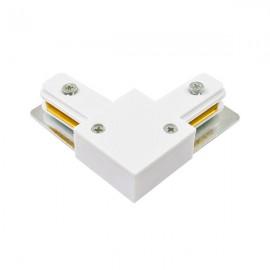 Коннектор угловой 90 градусов для трекового светильника белый