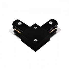 Коннектор угловой 90 градусов для трекового светильника черный
