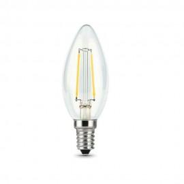 Лампа светодиодная Gauss Black FIL C37 E14 9W 2700K