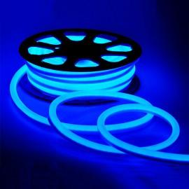 Светодиодный гибкий неон 220V 120SMD/м 10W IP68 синий