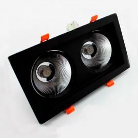 Светильник светодиодный карданный 2хСОВ 18W черный 4000К IP20