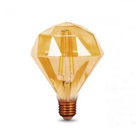 Лампа светодиодная Gauss Filament Diamond E27 5W Golden 2400K