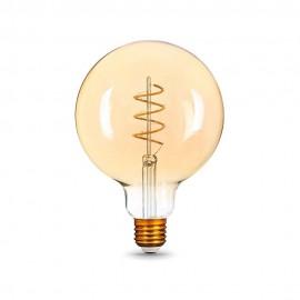 Лампа светодиодная Gauss Filament G95 Flexible E27 6W Golden 2400K