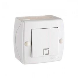 Выключатель 1-клавишный Mono Electric OCTANS IP20 серый 104-02-100