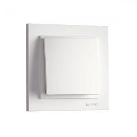 Выключатель 1-клавишный Mono Electric DESPINA белый 102-19-100