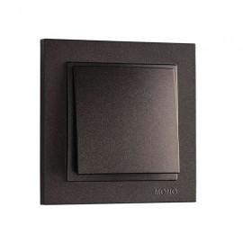 Выключатель 1-клавишный Mono Electric DESPINA графит 102-20-100