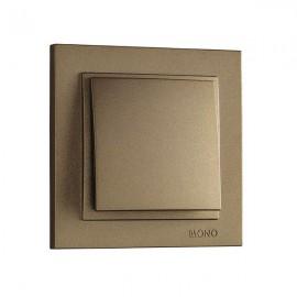 Выключатель 1-клавишный Mono Electric DESPINA бронза 102-23-100