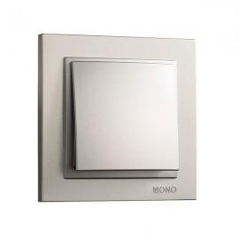 Выключатель 1-клавишный Mono Electric DESPINA серебро 102-21-100