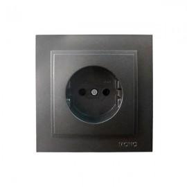 Розетка 1-ая без заземления Mono Electric DESPINA графит 102-20-116