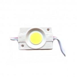Светодиодный модуль 2,5Вт 12В IP67 прозрачная линза белый