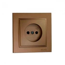 Розетка 1-ая без заземления Mono Electric DESPINA бронза 102-23-116