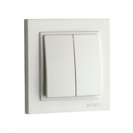 Выключатель 2-клавишный Mono Electric DESPINA белый 102-19-102