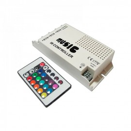 RGB контроллер 9А - Радио 24 кнопки (аудио)