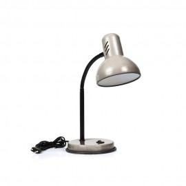 Настольная лампа LUMANO CAVALLI 60W E27 серебро