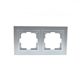 Рамка 2-ая Mono Electric DESPINA серебро 102-21-161