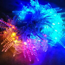 Гирлянда светодиодная Стрекоза 20 LED RGB 5м на батарейках 4*АА