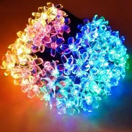 Гирлянда уличная на солнечной панели светодиодная Flower RGB 10м Powerlight