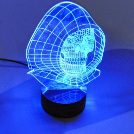 Светильник-ночник 3D Череп USB RGB Powerlight