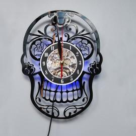 Часы с подсветкой RGB+пульт Череп Powerlight