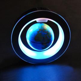 Светильник настольный RGB Глобус в круге синий шар 220V Powerlight