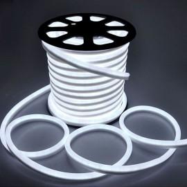 Светодиодный гибкий неон 220V 120SMD/м 10W IP68 холодный белый