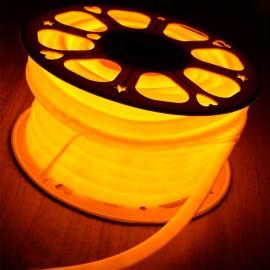 Светодиодный гибкий неон 220V 120SMD/м 10W IP68 желтый