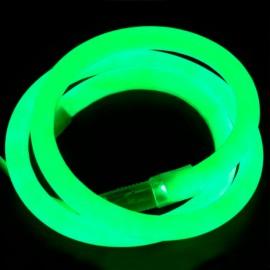 Светодиодный гибкий неон 220V 120SMD/м 10W IP68 круглый зеленный