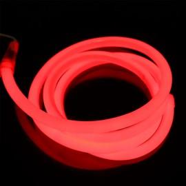Светодиодный гибкий неон 220V 120SMD/м 10W IP68 круглый красный