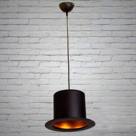 Люстра подвес Шляпа Лофт Е27 чорный/золото Powerlight