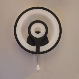Настенный светильник светодиодный Комо 4500K 25W чорный Powerlight