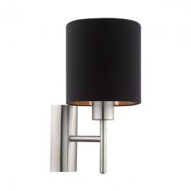 Настенный светильник 60W IP20 E27 MAT Eglo black