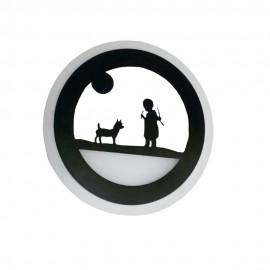 Настенный светильник светодиодный Лаго 18W black Powerlight