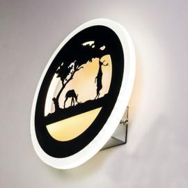 Настенный светильник светодиодный Лаго 18W 4500K чорный Powerlight