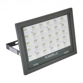 Прожектор светодиодный POWERLUX 10007 GR 100W  6500K IP66