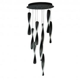 Люстра подвес LED POWERLUX ART-Spiral  72Вт 3000К BK
