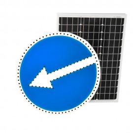 Светодиодный дорожный знак PWL 24W Объезд препятствия с левой стороны