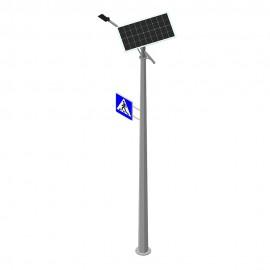 Комплект автономного уличного освещения на солнечной панели PWL DRIVE 30W с дорожным знаком
