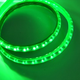 Светодиодная лента 220V 3528 120led/m 12W IP65 зеленая TM POWERLUX