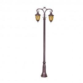 Cадово-парковый светильник PWL 2xE27 IP65-GREEN SQUARE-8002