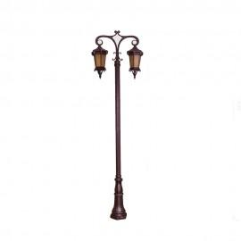 Cадово-парковый светильник PWL 2xE27 IP65-GREEN SQUARE-8009