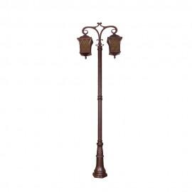 Cадово-парковый светильник PWL 2xE27 IP65-GREEN SQUARE-8012
