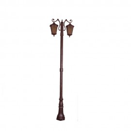 Cадово-парковый светильник PWL 2xE27 IP65-GREEN SQUARE-8013