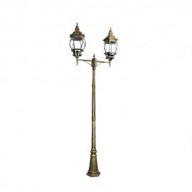 Cадово-парковый светильник PWL 2xE27 IP65-GREEN SQUARE-8017