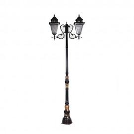 Cадово-парковый светильник PWL 2xE27 IP65-GREEN SQUARE-8019