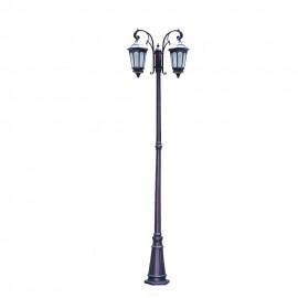 Cадово-парковый светильник PWL 2xE27 IP65-GREEN SQUARE-8034