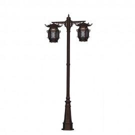 Cадово-парковый светильник PWL 2xE27 IP65-GREEN SQUARE-8054