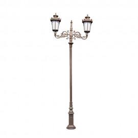 Cадово-парковый светильник PWL 2xE27 IP65-GREEN SQUARE-8057