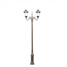 Cадово-парковый светильник PWL 2xE27 IP65-GREEN SQUARE-8059